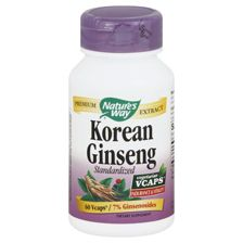 Nature's Way Korean Ginseng Standardized VCaps