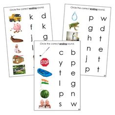 Step 2: Ending Sound Choice Cards (photos) Phonetic Sounds, Choices, Language, Lettering, Words, Photos, Pictures, Languages, Drawing Letters