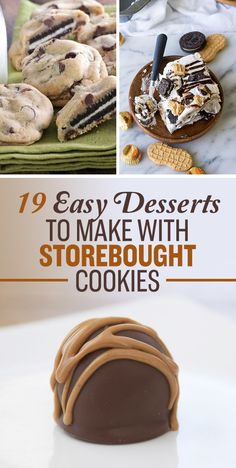 18 Unbelievably Delicious Things You Can Do To Store-Bought Cookies Easy To Make Desserts, No Bake Desserts, Delicious Desserts, Dessert Recipes, Yummy Food, Dessert Dips, Yummy Yummy, Buzzfeed Food, Love Food