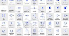 Basic Electrical and Electronic Symbols - Electrical Technology Electrical Plan Symbols, Home Electrical Wiring, Electrical Safety, Electrical Energy, Electrical Installation, Electrical Connection, Electronics Basics, Electronics Components, Electrical Components