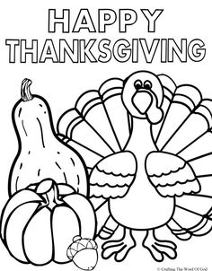 Free Thanksgiving Coloring Pages for Kids | Crafts | Pinterest ...