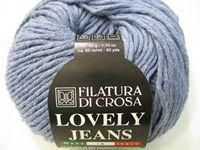 Lovely jeans cotton from Filatura di crosa is 100% cotton, made in Italy. It knits on 4.5 - 5 mm needles - around a 10 ply. 50 gram balls with 85 metres per ball