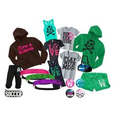 Kick, score, goal! For those who enjoy playing the sport, this set is for you! Visit activewearapparel.com for more sports for girls!