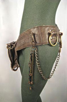 leather hip bag thigh bag burning man tank girl by Renegadeicon
