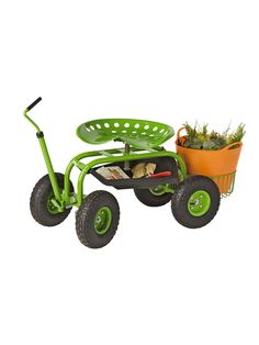 Rolling Garden Seat With Wagon Cart Gc1852a Rolling