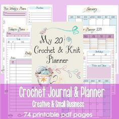 My 2019 Crochet & Knit Journal and Planner_for projects and small business