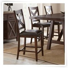 Hayneedle Steve Silver Clapton Counter Chair - Set of 2 $288
