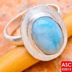 Larimar sterling silver ring  -- LOVE!!