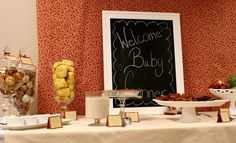 Baby Shower Brunch Kim, I just bought the cutest little chalkboard! We can use it!
