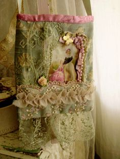 I ❤ lace . . . Lace purse, pretty vintage with lace ~By Lilla, moananui2000