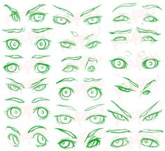 Drawing Realistic Eye Expressions Reference 2 by peepeechu 3d Drawing Techniques, Drawing Skills, Drawing Tips, Drawing Base, 3d Drawing Tutorial, Eye Drawing Tutorials, Art Tutorials, How To Draw Anime Eyes, Drawing Expressions