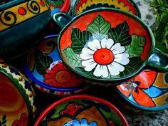 platos pintados mexicano - Buscar con Google