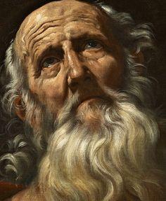Sadness and classic art, Saint Jerome, Detail. Guido Reni