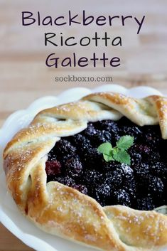 Blackberry Ricotta Galette has the perfect free-form pastry to use with your favorite fruit. The steps are easy and who doesn't love a warm dessert?