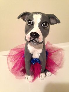 Pit Bull in A Tutu on Etsy, $55.00