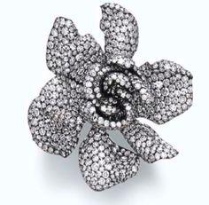JAR Diamond Gardenia ring