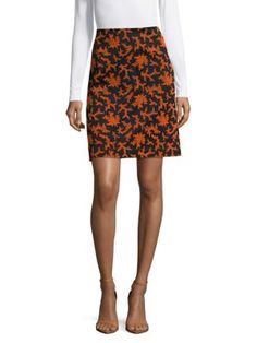 JIL SANDER Printed A-Line Skirt. #jilsander #cloth #skirt