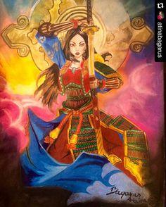 #Repost @atinabagarus  Amaterasu Fan Art #Smite