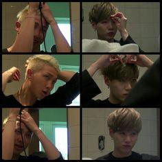 #BTS #방탄소년단 Bon Voyage Episode 4 ❤ Sugamon look so good just styling their hair…