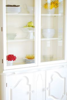 Loving this gorgeous china cabinet! Especially since it went from blah to whala!