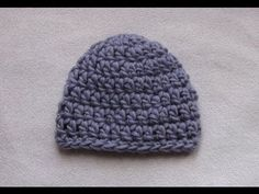 VERY EASY crochet chunky baby hat tutorial - 20 minute baby hat - YouTube