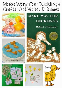 Make Way For Ducklings Book Club Play Date Ideas: Craft, Game, Snack, Sensory Play, & Busy Bag