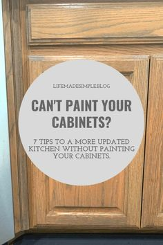 How to update wood cabinets-without painting. Are you happy with your outdated k… How to update wood cabinets-without painting. Are you happy with your outdated kitchen? In need of some tips to update your oak cabinets without the hassle of painting them?