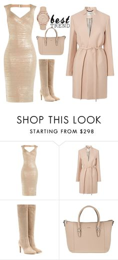 """""""Untitled #1"""" by aylis1 ❤ liked on Polyvore featuring Hervé Léger, Gianvito Rossi, Joop! and Burberry"""