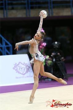 Aleksandra Soldatova (Russia) won silver in ball finals at Grand Prix in Holon, 2015
