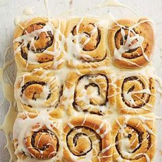 Citrus-Fig Sweet Rolls: These make-ahead rolls swap the usual cinnamon filling for a citrusy fig paste. More recipes from our March/April 2016 issue: http://www.midwestliving.com/food/comfort/midwest-living-marchapril-2016-recipes/?page=1