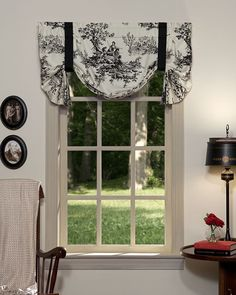 With its black on white toile and gathered design, the Bouvier Tie Up Valance by Thomasville At Home is a natural window treatment for your bedroom. This cotton valance is lined and has a classic rod pocket design. Comforter Sets, Home, French Country Bedrooms, Curtains, Tie Up Valance, Luxury Bedding Collections, Thomasville, Tie Up Curtains, Black Window Treatments