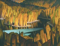 the group of seven Canadian Painters, Canadian Artists, Abstract Landscape, Landscape Paintings, Art Nouveau, Commercial Art, Wow Art, Animation Background, Traditional Paintings