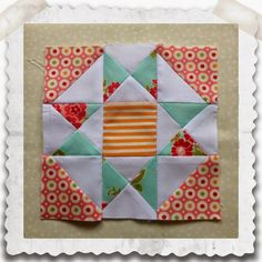 Threadbare Creations: Chatelaine- Free BOW Sampler Quilt Block 17