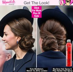 Kate Middleton's Twisted Updo At Military Service Event — Get Her RoyalLook