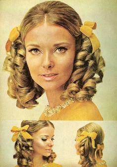 corkscrew curl pigtails - 60s Fashion - agent-lee