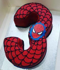 3rd Birthday Cakes For Boys, Spiderman Birthday Cake, Spiderman Theme, Frozen Birthday Cake, Cupcake Birthday Cake, Superhero Birthday Party, Cool Birthday Cakes, Boy Birthday Parties, Birthday Snacks