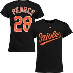 Steve Pearce Baltimore Orioles Majestic Official Name and Number T-Shirt - Black