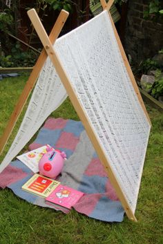 How to make a play frame, great for family garden fun!