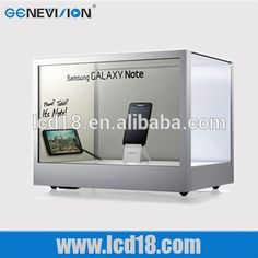 New digital signage lcd products 15 inch transparent lcd display box