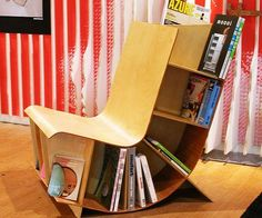 Reading Chair Book Rack - http://tiwib.co/reading-chair-book-rack/ #Furniture