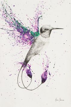 Humming Home by Ashvin Harrison is printed with premium inks for brilliant color and then hand-stretched over museum quality stretcher bars. Money Back Guarantee AND Free Return Shipping. Art Prints, Animal Art, Ink Art, Art Drawings, Drawings, Nature Art Painting, Art, Hummingbird Art, Bird Art