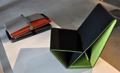Studio Nuy van Noort has designed a foldable chair made from 100 percent recycled and recy...