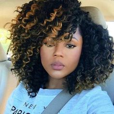 Crochet braids hairstyles Crochet braids have become a huge trend in the past few years. Take a look at these 70 inspiring and super trendy crochet braids hairstyles! Curly Crochet Hair Styles, Curly Hair Styles, Natural Hair Styles, Natural Hair Wigs, Crochet Braid Styles, Girl Hairstyles, Braided Hairstyles, Black Hairstyles, Curly Haircuts