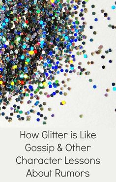 How Glitter is Like Gossip and Other Character Lessons to Go Along with the Book Mr. Peabody's Apples