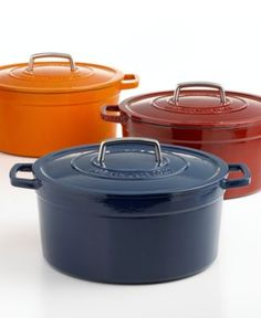 Martha Stewart Collection Collector's Enameled Cast Iron Round Casserole, 8 Qt.