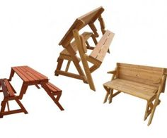 The folding picnic table has a great space saving design for the garden with limited space. 2 in 1 design easily converts from picnic table to garden bench and back again. Picnic Table Bench, Folding Picnic Table, Diy Furniture Chair, Diy Pallet Furniture, Outdoor Chairs, Outdoor Decor, Butterfly Chair, Backyard Patio, Interior Design