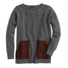 Merino Leather-pocket Sweater by J. Crew, $158