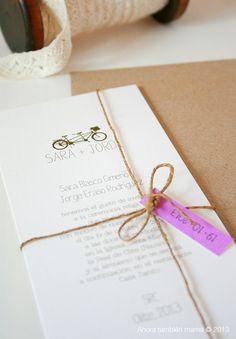 Invitación de boda modelo tándem
