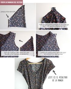 trendy sewing projects for women refashioning blouses Sewing Clothes Women, Diy Clothing, Clothes For Women, Lovely Dresses, Simple Dresses, Sewing Patterns Free, Clothing Patterns, Diy Vestido, Couture Looks
