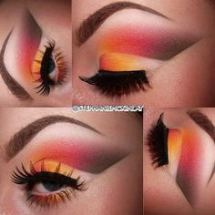 Sunset eyeshadow look